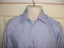 Mens/boys long sleeve BLUE office pilot shirt Epaulette Loops, security cadet