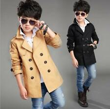 Children's Autumn New Long-sleeve Lapel Stylish Boys Trench Coat Cotton Comfort