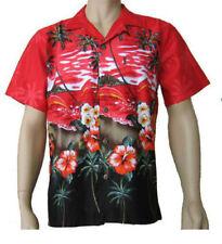 V Neck Loose Fit Casual Shirts & Tops for Men Hawaiian