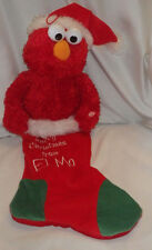 Merry Christmas From Elmo Stocking Sesame Street Holiday Christmas Red Sings