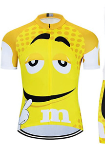 M&M Team Square Men's Short Sleeve Cycling Jersey