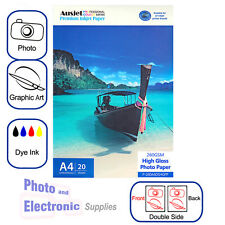 A4 High Gloss DS (double side) Photo Paper for Dye Inkjet 260gsm (20 Sheet)