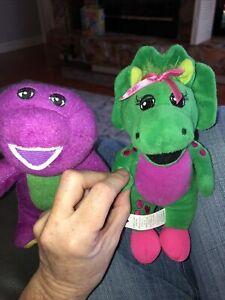 Barney & Baby Bop Stuffed Plush Dolls Toys