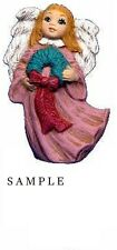 Angel Ornament with Wreath 2.25 inch Hand made Ceramic Ready to paint bisque