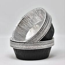 130 x Black Pukka pie/quiche Foil Dishes Round 110/33mm