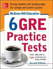 McGRAW-HILL EDUCATION 6 GRE PRACTICE TESTS 2nd EDITION TEST PREPARATION BOOK NEW