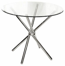 Chrome Up to 2 Seats Round Kitchen & Dining Tables