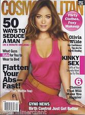 Cosmopolitan magazine Olivia Wilde Seduction Flat abs Flirty clothes Kinky sex