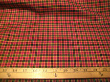 """HOT PINK/BLACK/YELLOW PLAID POLY RAYON FABRIC 60"""" WIDE BYT"""
