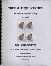 Handel Hallelujah Chorus - arr. for Horn Quartet  - Music Score and parts NEW