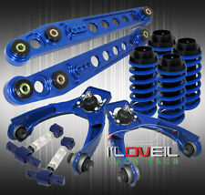 CIVIC BLUE SUSPENSION- COILOVER SLEEVES+LCA LOWER CONTROL ARMS+ADJUST CAMBER KIT