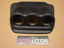 Subaru Impreza 52mm Triple Dash Calibre pod/holder, negro plástico ABS 01-07 Newage