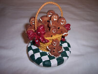 """Candle Topper ,Christmas  Companions, Gingerbread Men Candle , fits 3"""" candle"""