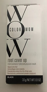Color Wow Gray & Dark Hair Root Cover Up Hair Black Powder 3.1g New fast ship!