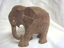 UNIQUE Hand Carved WOODEN ELEPHANT