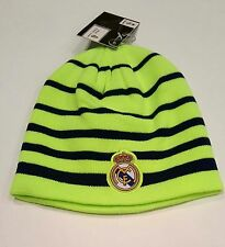 Real Madrid Official New W/Tags Fitted Beanie Winter Hat Cap K1Y28 Blue Stripes