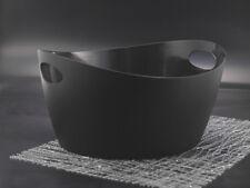 koziol Utensilo Bottichelli L 15 l in schwarz Kunststoff Behälter