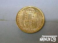 HALF SOVEREIGN - 1892 / SHIELD BACK / QUEEN VICTORIA / GOLD COIN