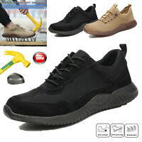 Mens Safety Shoes Steel Toe Cap Breathable Work Waterproof Indestructible Boots