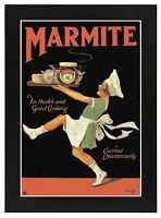 AD63 Vintage Marmite Classic Advertisement Advertising Framed Poster A3/A4