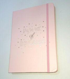 BOOK OF DREAMS A5 PINK NOTEBOOK Rose Gold Metallic Gilding LINED HARDBAK JOURNAL