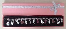 ONE Direction 1d Bracciale con Charm con confezione regalo rosa