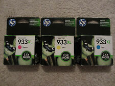 ☀️ Lot of 3 - NEW GENUINE HP OfficeJet 933XL Yellow Cyan Magenta Ink Cartridges