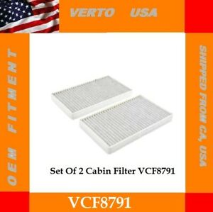 Set Of Cabin Air Filter For Cadillac, Chevrolet , GMC Based on Chart, VCF8791