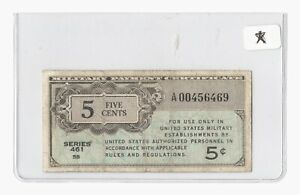 Series 461 MPC 5¢ REPLACEMENT U.S. Military Payment Certificate