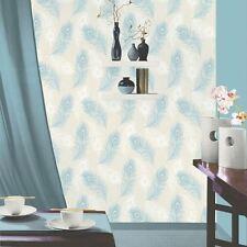 ALTO Plume De Paon Papier peint vinyle texturé - Sarcelle Crème 40914 DeBona
