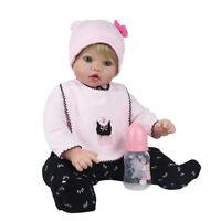 22'' Reborn Newborn Dolls Blonde Wig Vinyl Silicone Baby Boy Doll Birthday Gift