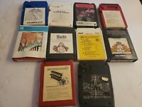 Vintage 8-Track Tape LOT of 10 Classical Bach Philharmonic Mantovani Tosca Cole