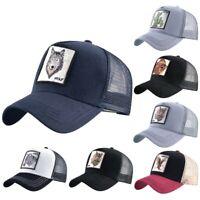 New Summer Unisex Hip Hop Embroidered Animal Men Baseball Caps Trucker Hats Cap