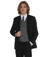 Boys Suits Boys Check Suits, Page Boy Wedding Prom Suit, Boys Black Suit Tr