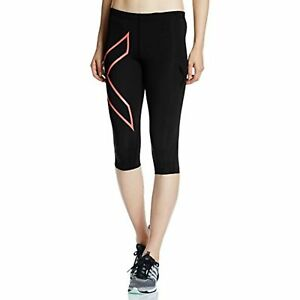 2XU Women's 3/4 Compression Tights, Black/Nero, Medium