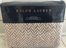 """Ralph Lauren Home """"Marylebone Brantley"""" DUVET COVER *QUEEN* /Full Cotton Brown"""