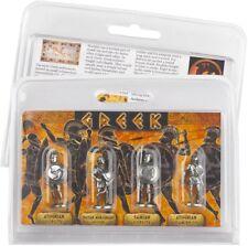 Set di 4 Figure peltro Greco guerrieri. - Idea regalo di qualità