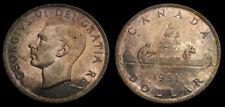 Canada 1951 King George VI Silver Dollar Toned BU
