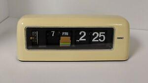 Vintage Mid Mod Copal Flip Clock Space Age MCM Eames WORKS Rare US VOLTAGE MODEL