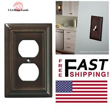 Wall Plates Espresso Architectural Wood Decorative Single Duplex Outlet Covers
