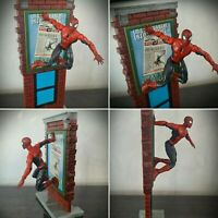 RARE Spider-Man Action Figure Super Poseable Magnetic Leap Stick Action Toy biz