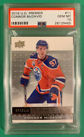 CONNOR MCDAVID PSA 10 2016 UPPER DECK PREMIER #/399 ... POP 4 !!