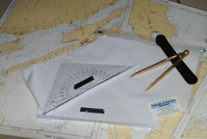 Navigations-Set Ausbildung, SKS & SSS, 2 x Dreieck & Zirkel u.m. in PVC-Tasche