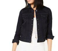 NYDJ Women's Denim Jacket Blue Size Small S Button Front Dark Wash $98 #040