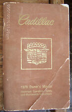 1978 CADILLAC Owner's Operating Safety & Maintenance Instructions Manual Lot#238