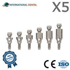 5 Ball Attachment Slim 3.0mm, Titanium Dental Implant Abutment Internal Hex