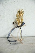 Gold olive branch, real olive tree branch electroplated with gold