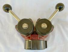 "Vtg Akron Model 1581 1.5"" MNH 2.5"" FNH Siamese Gated Wye Fire Valve"
