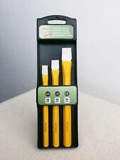 Meißelsatz 3-tlg Flachmeißel Meissel Set Werkzeugstahl Cr-V Sechskant 16 12 10mm
