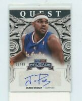 JARED DUDLEY 2013-14 Panini Crusade Quest AUTO AUTOGRAPH SILVER #D /49